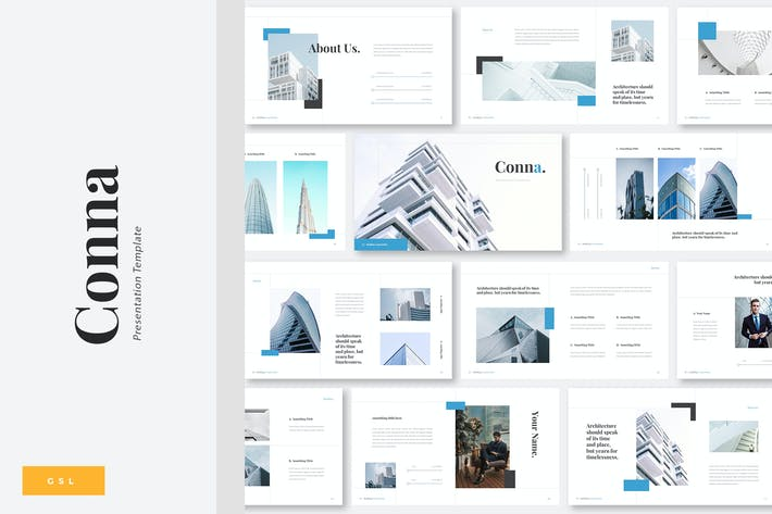 Conna - Building Construction Google Slides