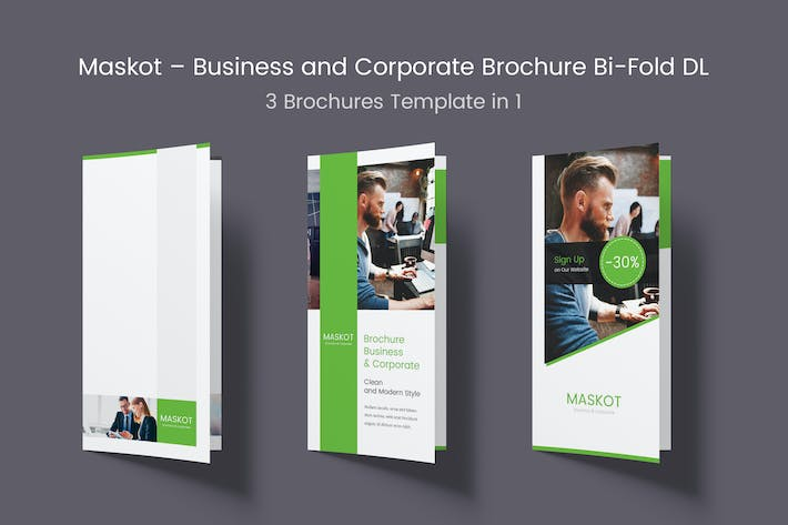 Thumbnail for Maskot – Business and Corporate Bi-Fold DL