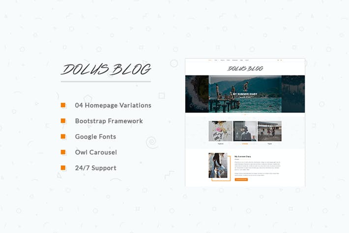 Thumbnail for Dolus - Blog HTML5 Template