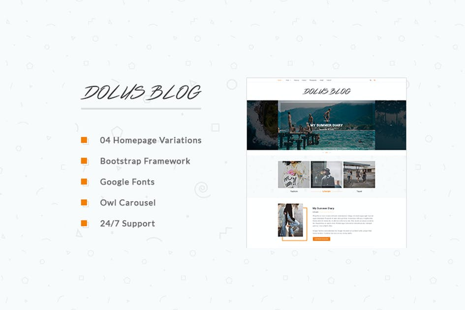 Download Dolus - Blog HTML5 Template by GomalThemes