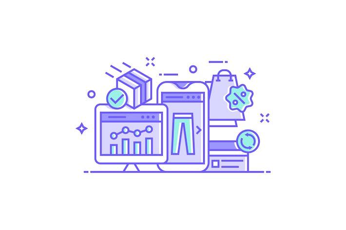Thumbnail for Иллюстрация электронной коммерции и покупок