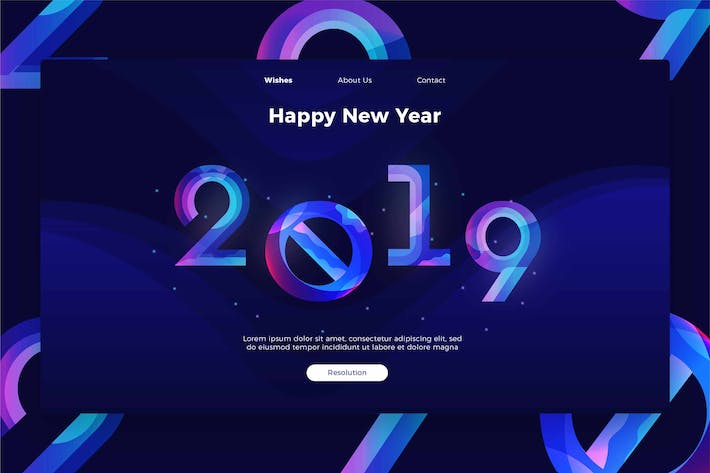 Thumbnail for Happy New Year - banner & Landing Page