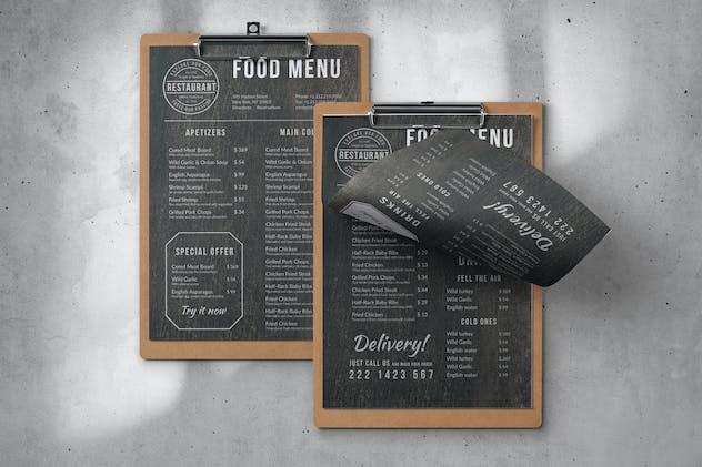Vintage Food Menu - Single Page