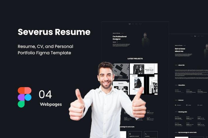 Thumbnail for Severuz - Resume Website Figma Template