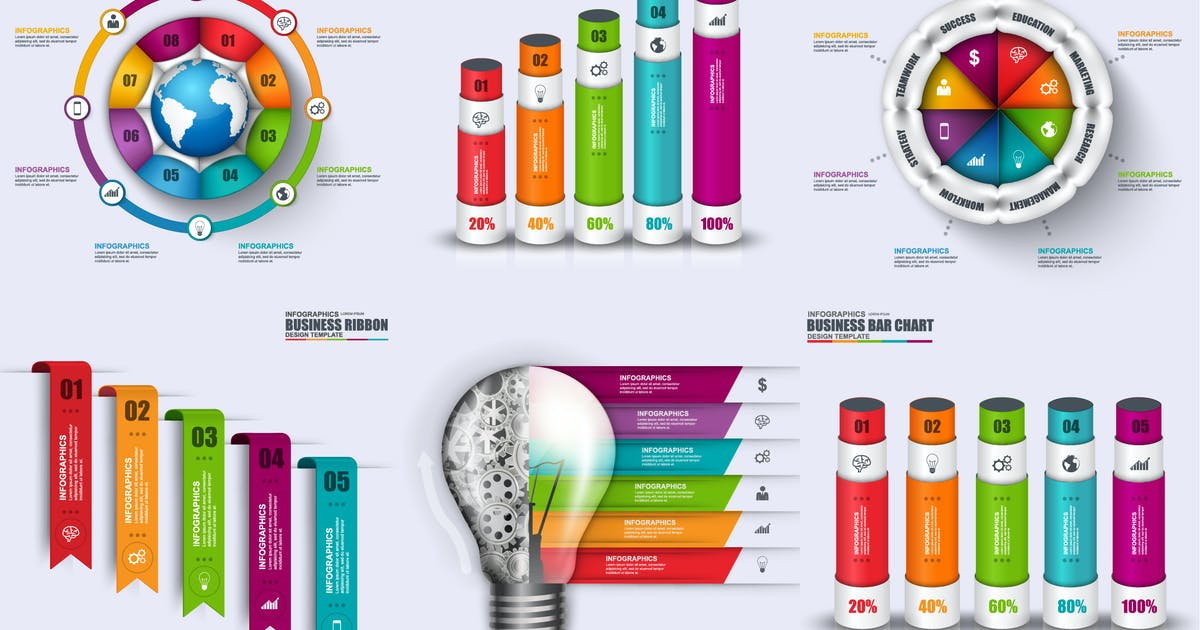 Download Abstract 3D Digital Infographics by alexdndz