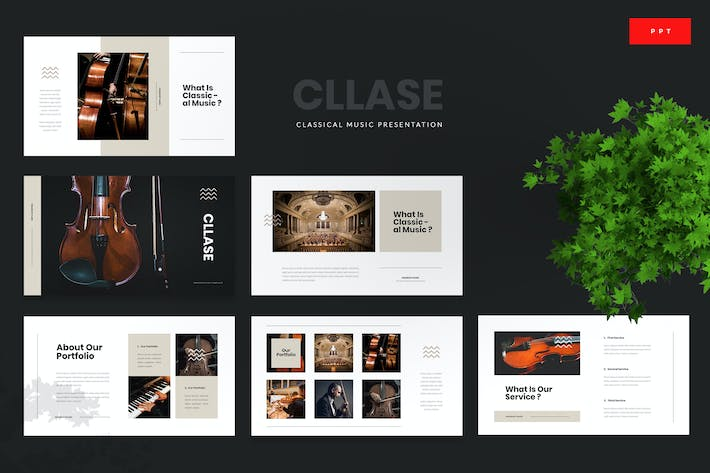 Thumbnail for Cllase - Classical Music Powerpoint Template