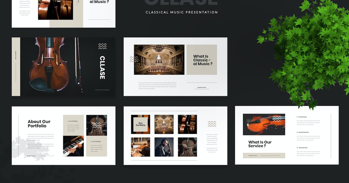 Download Cllase - Classical Music Powerpoint Template by naulicrea