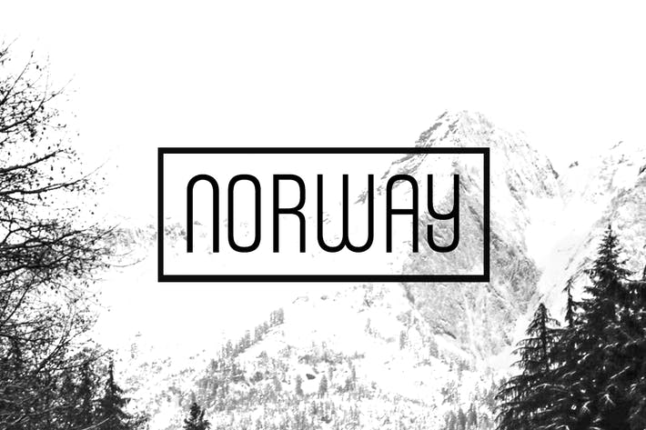 Thumbnail for NORWAY - Unique Display / Headline Typeface