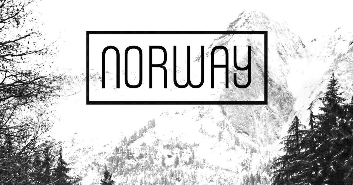 Download NORWAY - Unique Display / Headline Typeface by designova