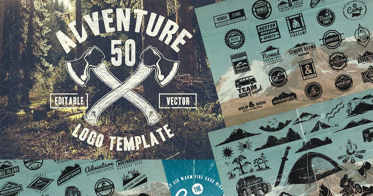 50 Vintage Adventure Outdoor Badges & Logos by TSVcreative