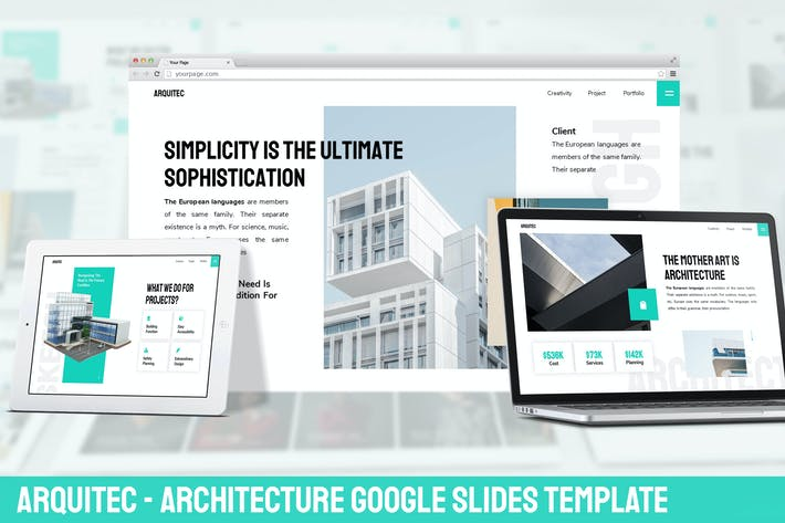Thumbnail for Arquitec - Architecture Google Slides Template