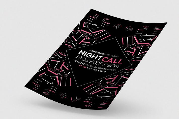 Thumbnail for Nightcall Flyer / Poster