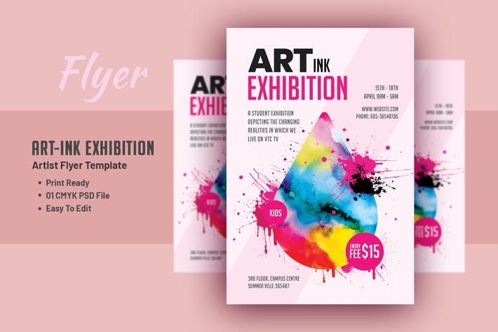 Art Ink Exhibition - Artist Flyer Template