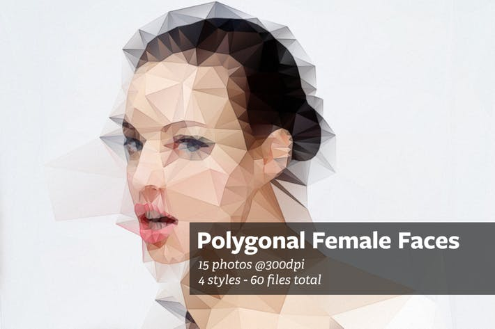 Cover Image For Polygonal Female Faces