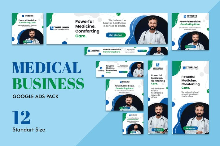 Thumbnail for Google Ads Web Banner Medical Business