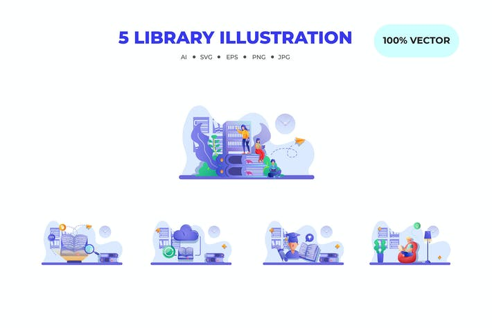 Thumbnail for Library Illustrations