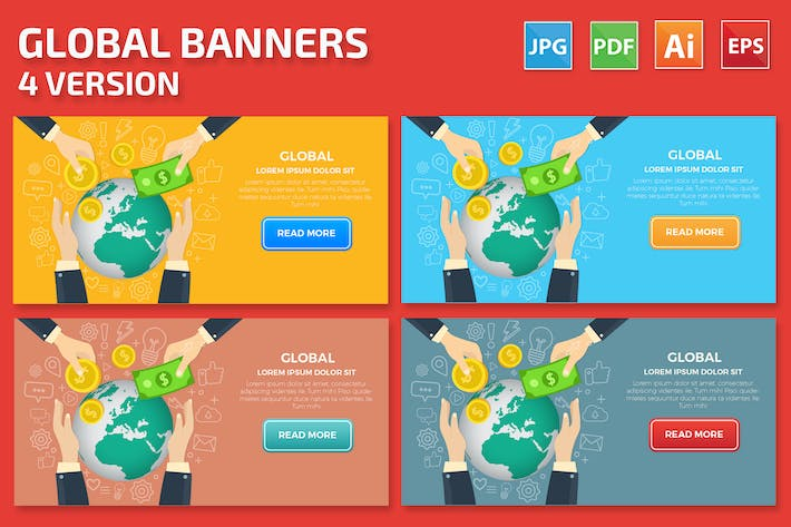Thumbnail for Global Banners Design