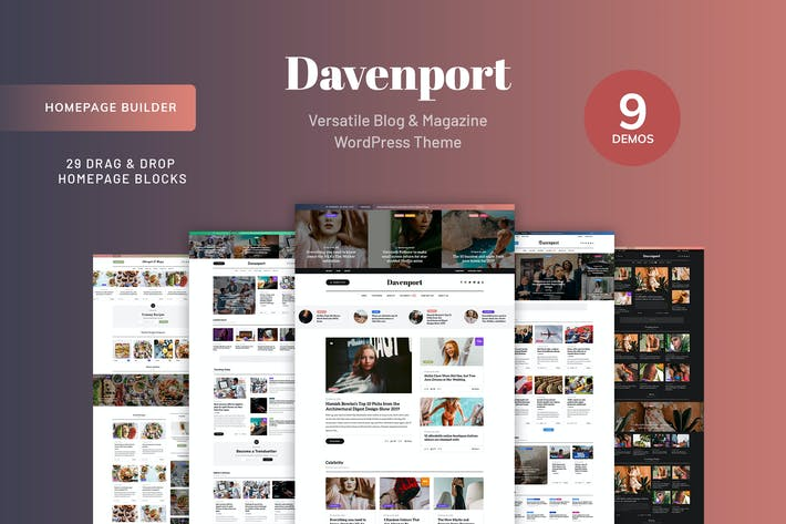 Thumbnail for Davenport - Blog and Magazine WordPress theme