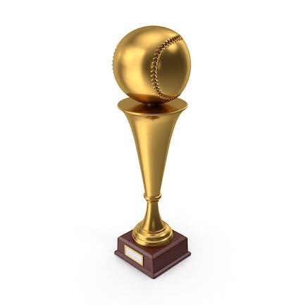 Gold Trophy Baseball