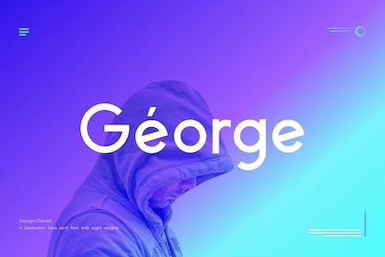 George Sans Geometric Tipo de letra