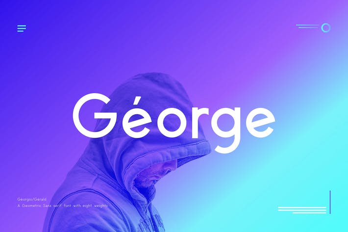 Cover Image For George Sans Geometric Typeface