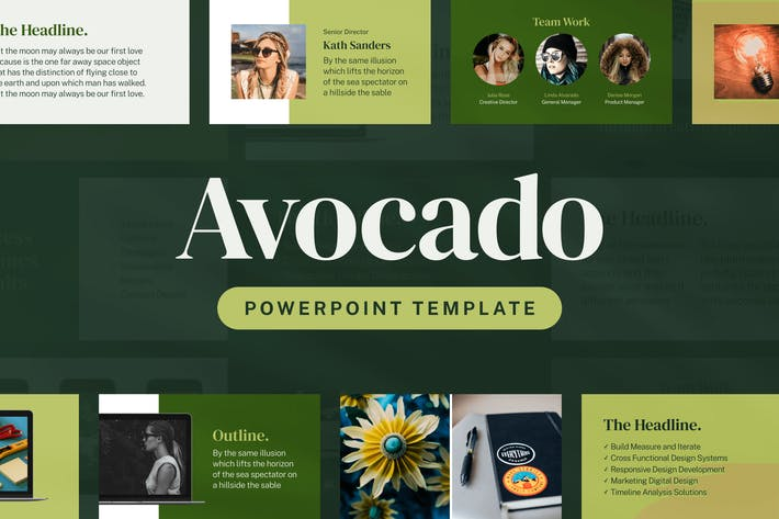Thumbnail for Авокадо — Шаблон презентации Powerpoint