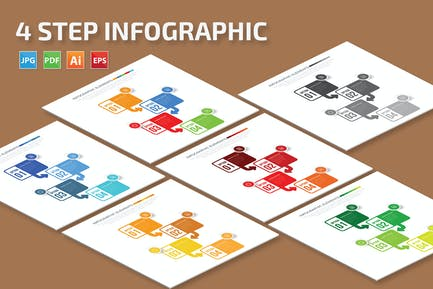 4 Step Infographic Design