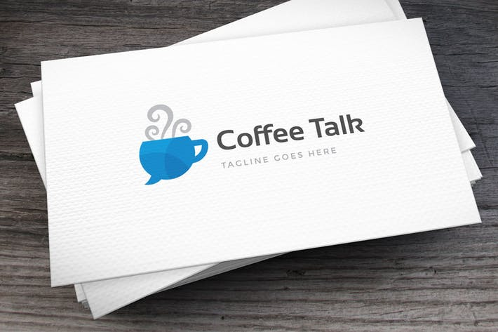 Thumbnail for Coffee Talk Logo Template