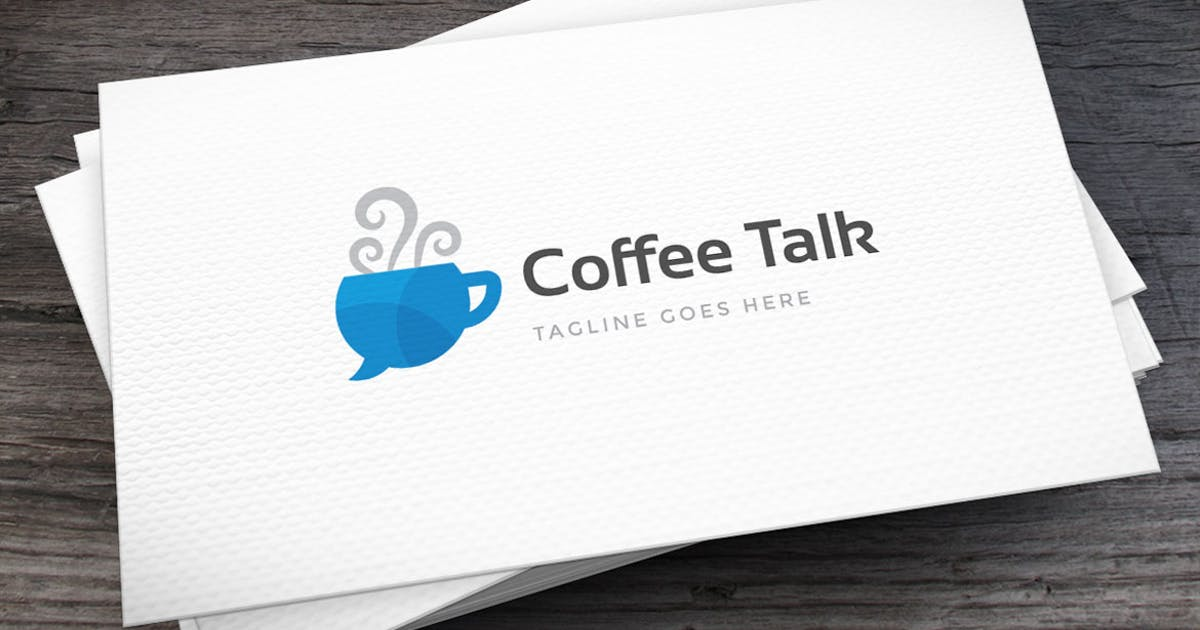 Download Coffee Talk Logo Template by empativo