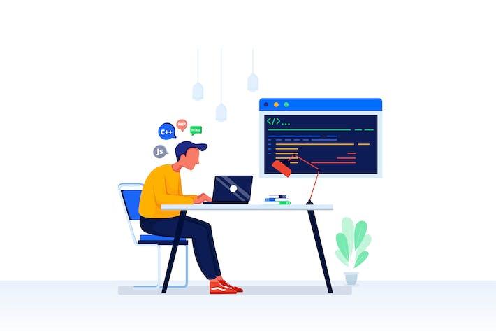 Thumbnail for Programming Skills Vector Illustration