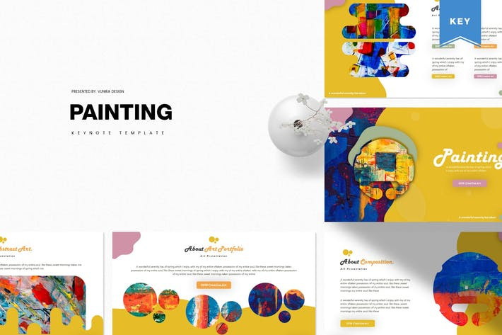 Thumbnail for Painting | Keynote Template