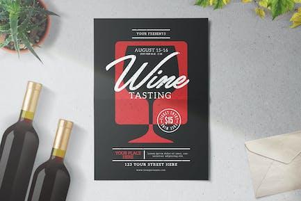 Weinprobe Flyer