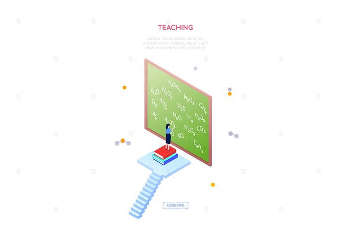 Thumbnail for Teaching chemistry- modern isometric web banner