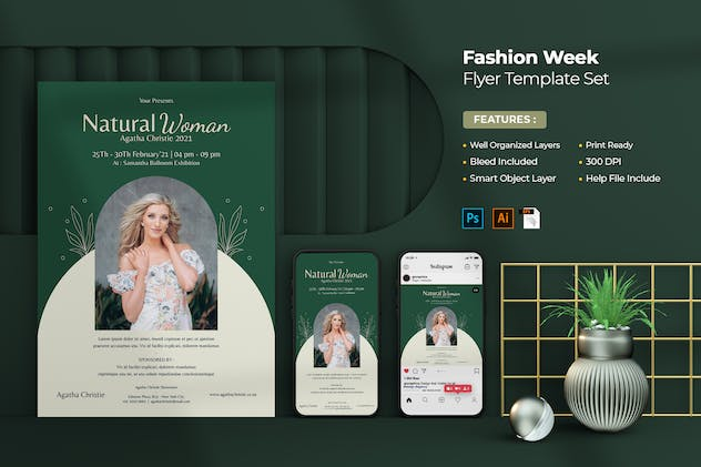 Fashion Week Flyer Set