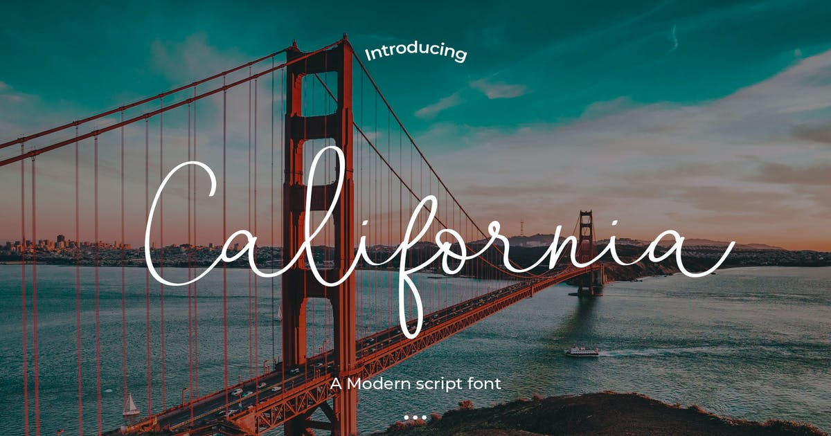 Download California - A Modern script font by Justicon