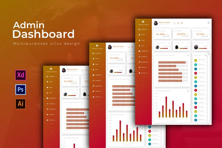 Thumbnail for Apricot Dashboard | Admin Template