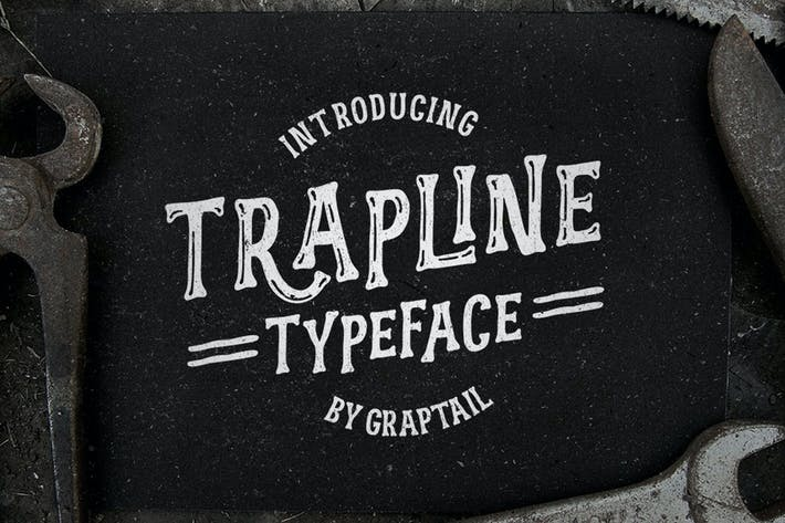 Thumbnail for Trapline Typeface