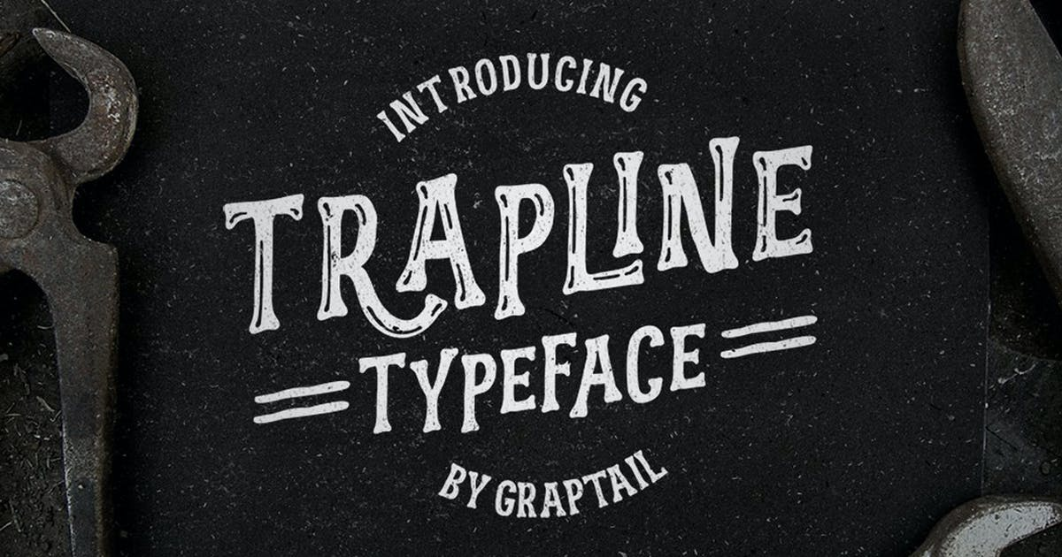 Download Trapline Typeface by graptailtype