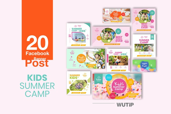 Thumbnail for 20 Facebook Post Banner - Kids Summer Camp