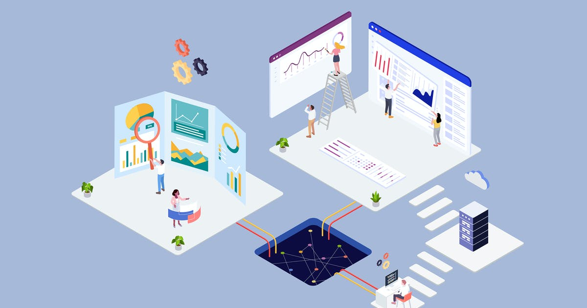 Download Analysis Agency Concept Isometric Illustration by angelbi88