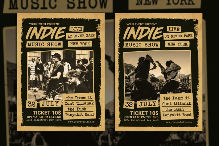 Thumbnail for Indie Music Show Flyer