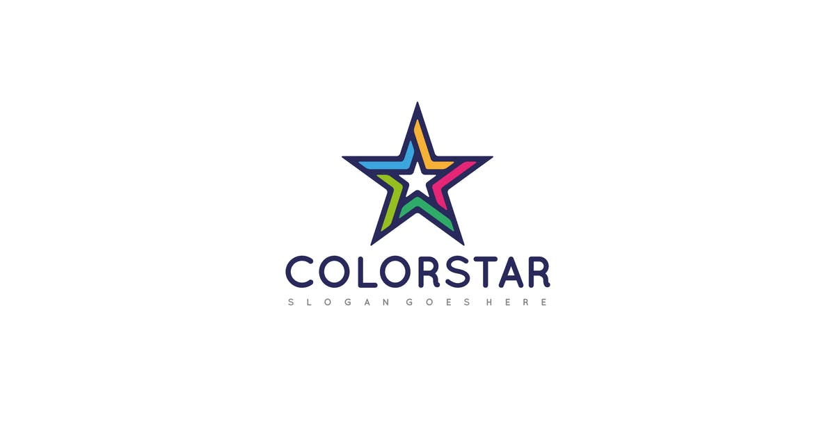 Download Colorful Star Logo by 3ab2ou