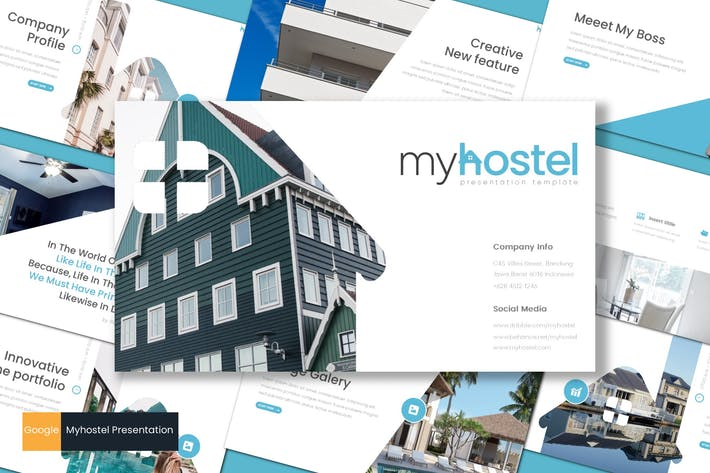 Thumbnail for Myhostel - Google Slides Template