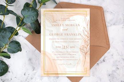 Classic Luxe Marble Wedding Invitation