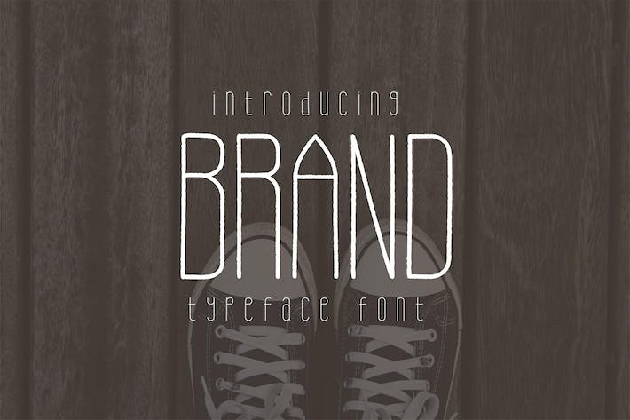 Cover Image For Brand Typeface Font