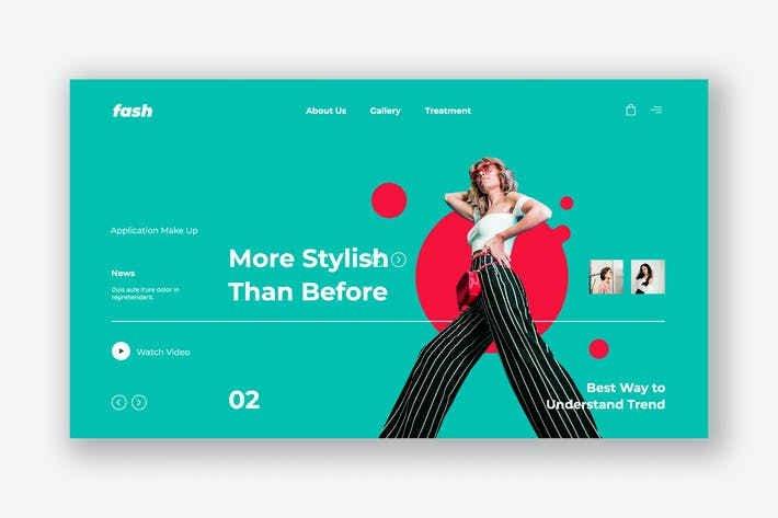 Thumbnail for Urban Fashion Hero Header PSD Template