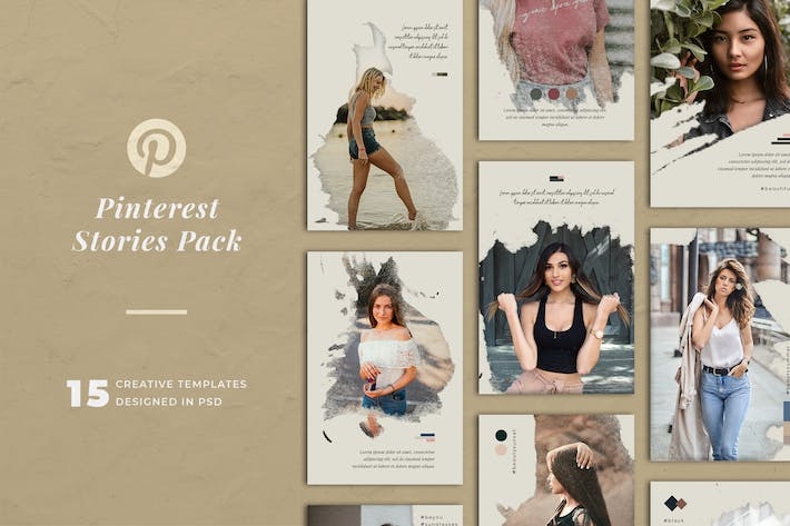 Thumbnail for Holiday Pinterest Stories Templates