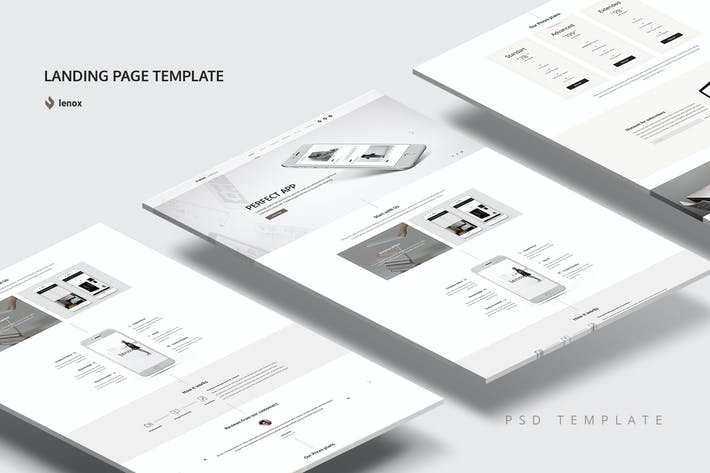 Thumbnail for Landing Page PSD Template