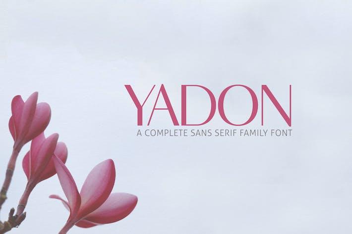 Paquete familiar de fuentes Yadon Sans Serif