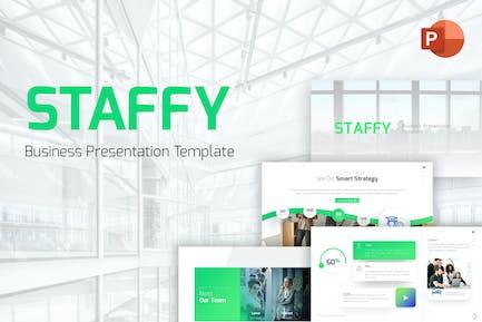Шаблон Staffy Бизнес Современный PowerPoint